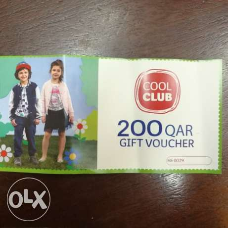 For sale a voucher buy 200 riyals from cool club in Qatar for 150 riya