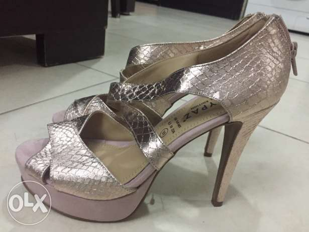 Maripaz Rose gold high heels size 39