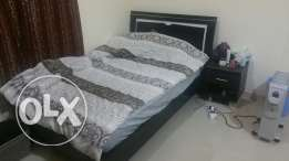 Bed 120x200 with mattres and side table