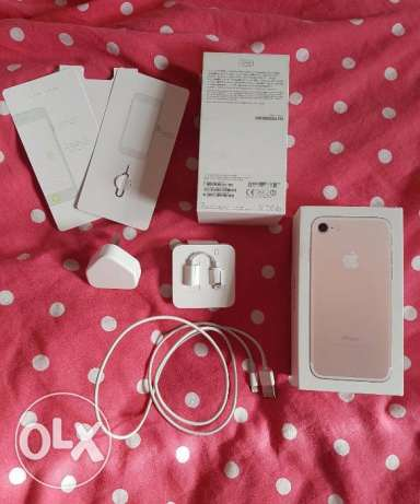 iphone 7 256 gb in box with warranty 1 year rose gold