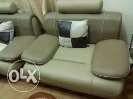 2 PCS Leather corner sofa 4 seater/