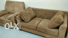 Two piece sofa set three seater