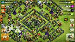 clash of clans th 9 max account
