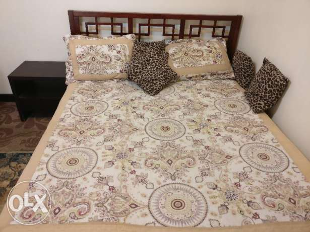 Pure wooden bed from home center