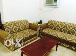 7 seater sofa only 650 three wooden tables QR 100