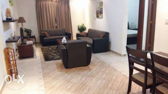fully furnished 1 bhk flat in al sad included water and electricity السد -  1