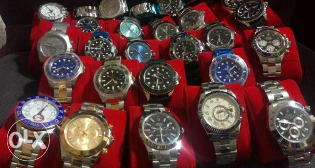Watch. Rolex Tag Heuer Audemars Hublot IWC Richard etc.