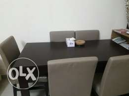 Dinning Table 6 chairs and 2 seater sofa